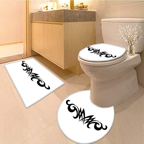 Cushion Non-slip Toilet Mat tribal tattoos design element art tribal tattoo Cushion (60x80 Da Mat)