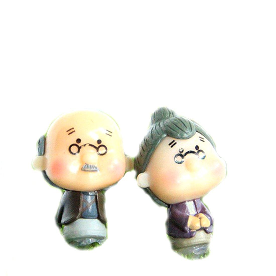grand-m/ère et grand-p/ère 2 figurines miniatures pour la d/écoration