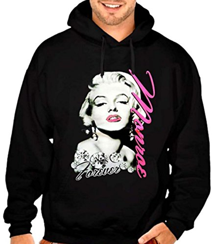 (Marilyn Monroe Forever Men's Hoodie Black S-5XL (3XL, Black))