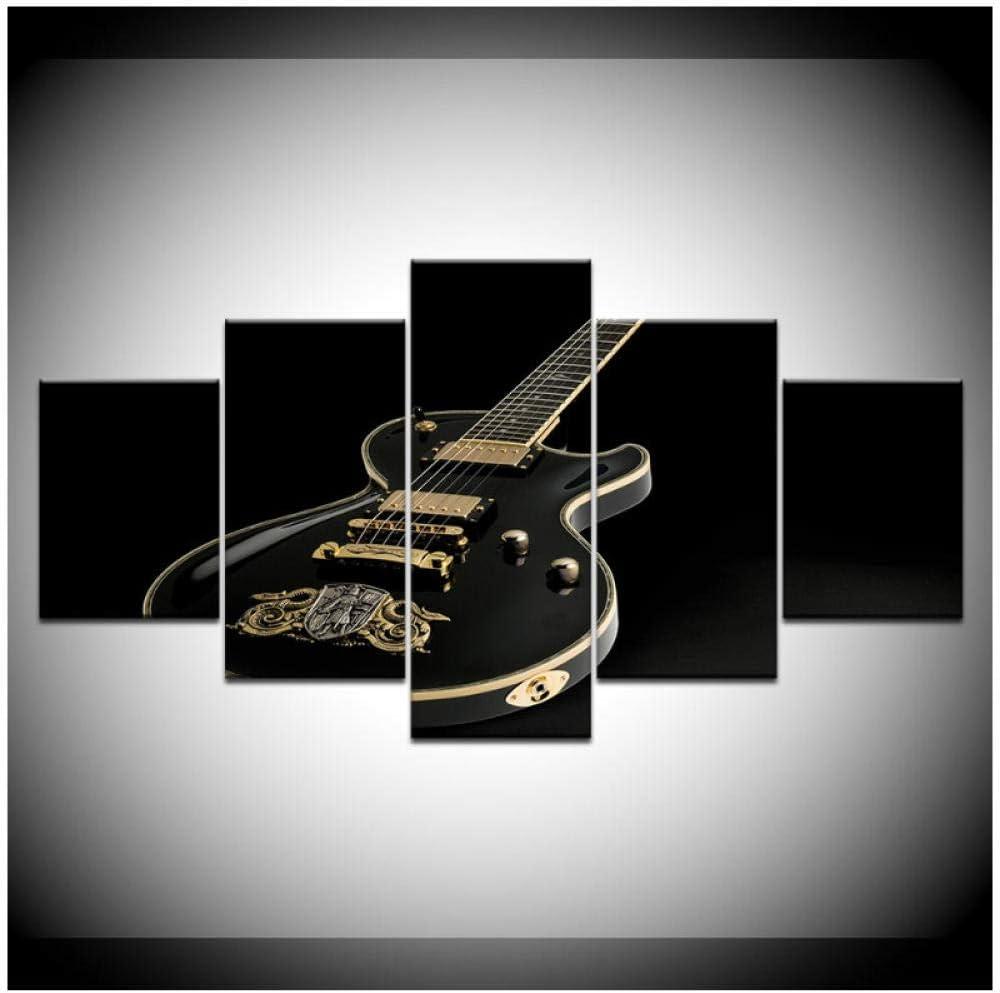 Lona HD Imprima imágenes Arte de la pared 5 piezas Música Guitarra ...