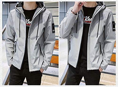 ジャケット メンズ 長袖 無地 ウインドブレーカー 春秋 フード付き アウター カジュアル 防風 軽量 大きいサイズ