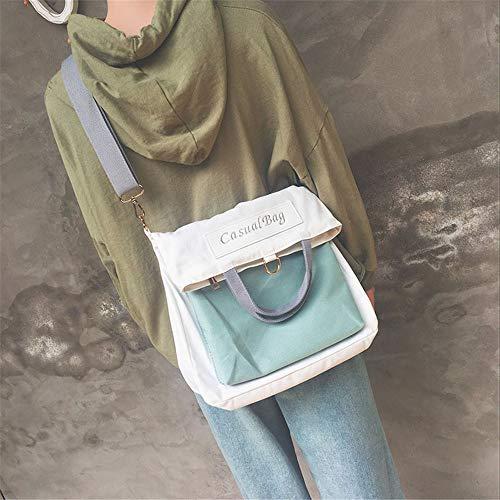 perezosa de Azul bolso vela paño femenina la Harajuku parodia LANDONA bolso del hombro coreanos de estudiantes del mensajero del gwqZU7