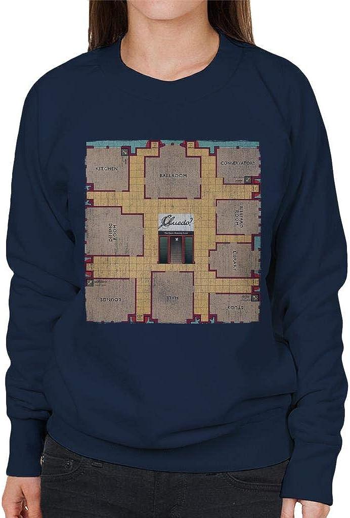 Hasbro Cluedo Retro Gameboard Womens Sweatshirt: Amazon.es: Ropa y accesorios