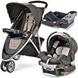 Cheap Chicco Viaro Teak Stroller Travel System with extra Keyfit 30 Base – Anthracite