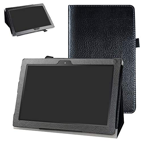 Digiland DL1016 /DL1018A Case,Bige PU Leather Folio 2-Folding Stand Cover for 10.1