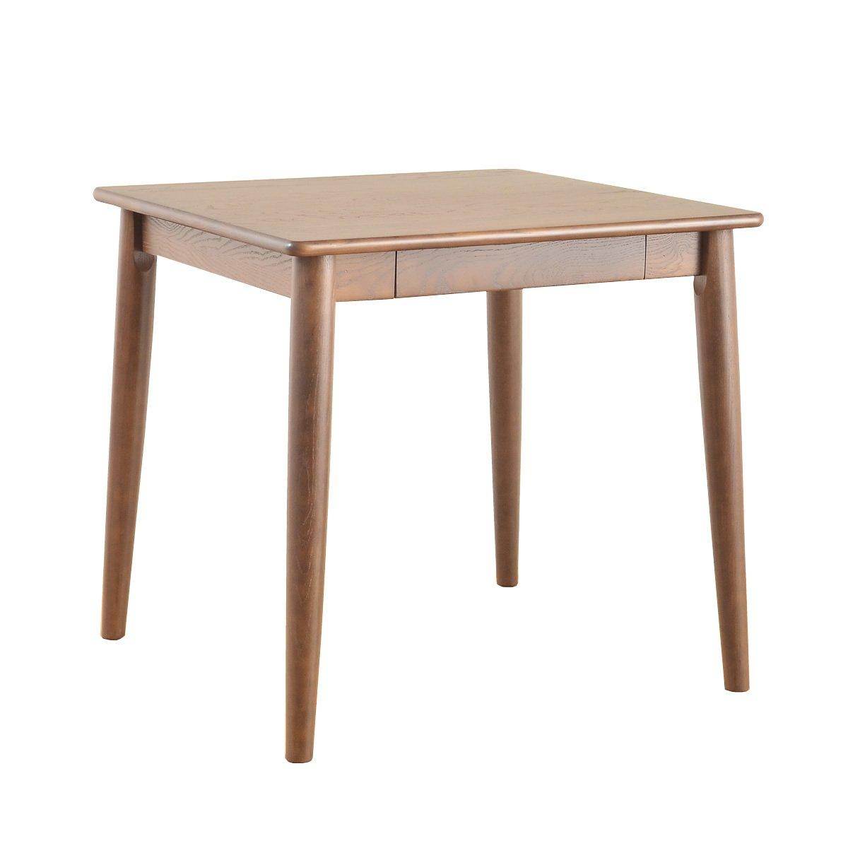 ブラウン/テーブル ダイニングテーブル ダイニング ナチュラル 北欧 シンプル おしゃれ モダン 無垢材 幅75 木製 木 ウッド リビングテーブル リビング B009YDN6TQブラウン