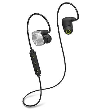 OKCSC U6 auriculares inalámbricos Bluetooth, Bluetooth 4.2 auriculares estéreo Universal IPX6 Auriculares impermeables con micrófono HD Pedometer múltiples ...