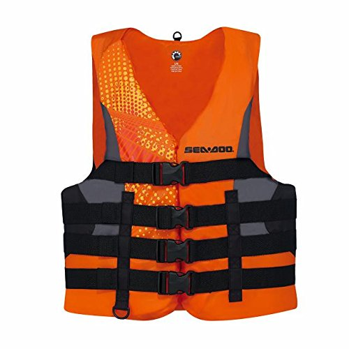 BRP Sea-Doo Men's Nylon Motion PFD Life Vest Jacket (Medium, Orange) by Sea-Doo