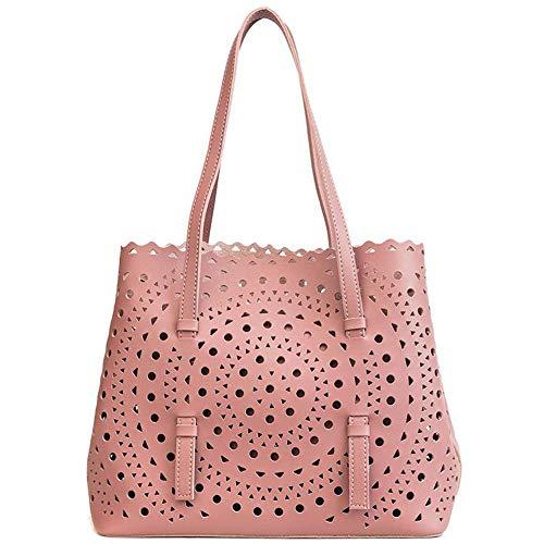 Borse Bianco Mano Mjfo Geometrica Bianche Femminile Tote Borsa Spalla Borsette Bianca Light A Per Pink Donna SHHwTqx