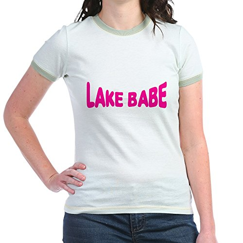 Kids Fish Ringer T-shirt (CafePress - Lake Babe For Girls Who Love - Jr. Ringer T-Shirt, Slim Fit 100% Cotton Ringed Shirt)