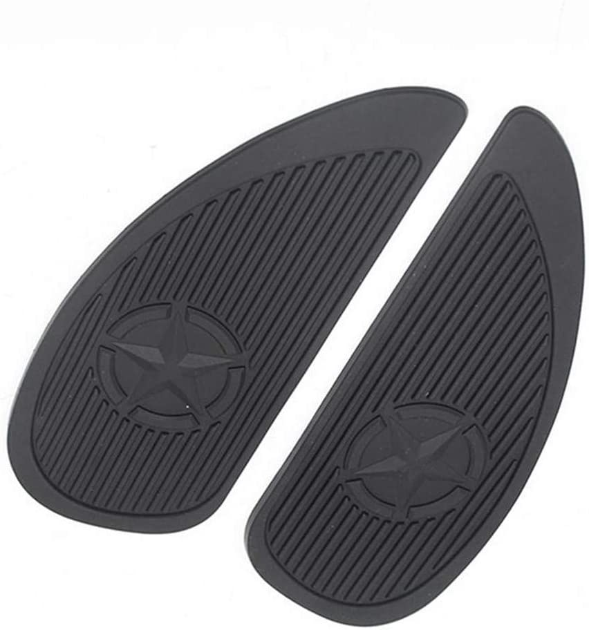 DIYARTS 2PCS Tank Traction Pad Side Gas Knee Grip Protector Non-Slip Rubber for Retro Motorcycle