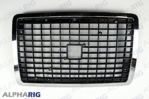 XS-Power ALL BLACK 2004 - 2013 VOLVO VNL Front Grille Grill With BUG SCREEN G46W