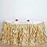 Mikash 21 feet x 29 Taffeta Curly Banquet Table Skirt Party Wedding Booth Decorations | Model WDDNGDCRTN - 18762 |
