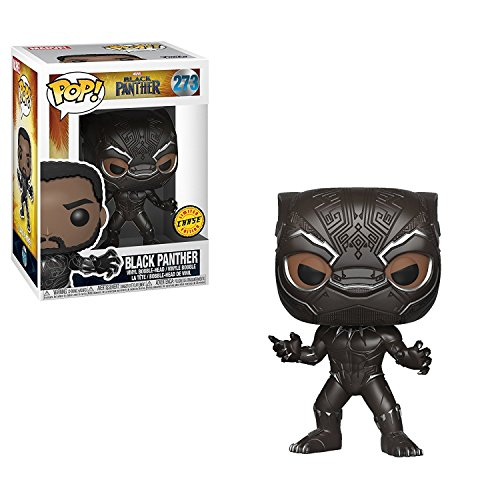 "FunKo POP! Marvel Black Panther 3.75"" CHASE VARIANT Vinyl Fi"