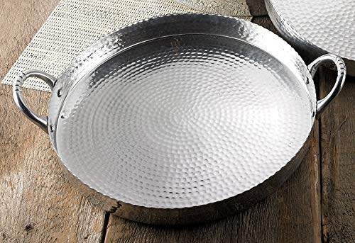 Hammered Serving Tray Aluminum (17