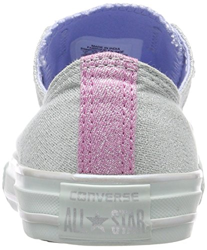 Converse Ctas Double Tongue OX, Zapatillas Unisex Niños Mehrfarbig (Dried Bamboo/Blue Chill/Light Orchid)