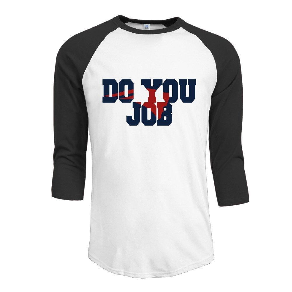 Do Your Job New England Team Mens Contrast Raglan Baseball Shirt
