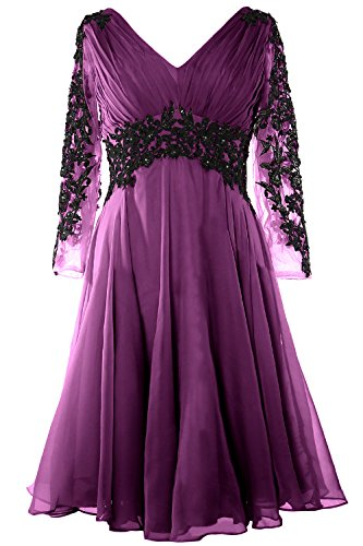 V Eggplant Macloth Sleeve Formal Of Women Mother Dress Neck Evening Lace Bride Long Gown rBqTXB8