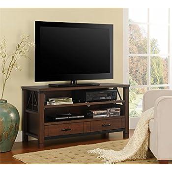 Amazon Com Sauder Palladia Panel Tv Stand Select Cherry