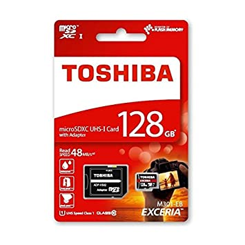 90159e84a 128GB Toshiba Class-10 Micro SDXC Memory Card With SD Adapter For HTC 10