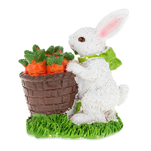 Bunny with Easter Basket Full of Carrots 3 ()