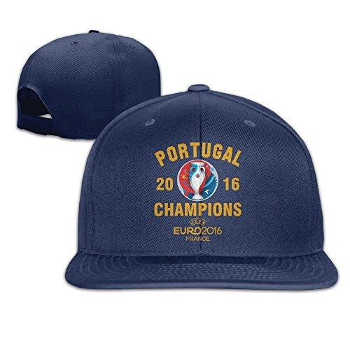 MaNeg Portugal 2016 Soccer Champion Unisex Fashion Cool Adjustable Snapback Baseball Cap Hat One Size - Houston Dior