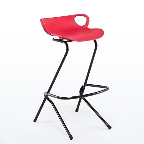 Tabouret Haut Moderne En Fer Forgé Chaise De Barre Créative Rouge