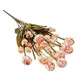 Artificial Otono De Seda 11 Flor Rosa Rama Jardin De Flores De Cafe Decoracion Del Hogar
