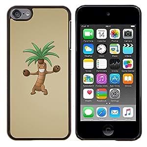 YiPhone /// Prima de resorte delgada de la cubierta del caso de Shell Armor - Árbol de dibujos animados de Palm Dibujo Animación de Personajes - Apple iPod Touch 6 6th Touch6
