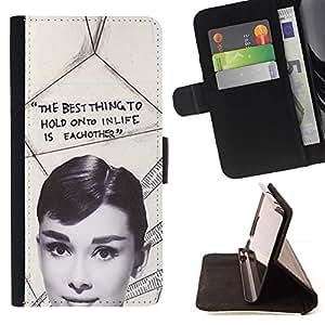 Momo Phone Case / Flip Funda de Cuero Case Cover - La estrella de cine de época Cine Actriz - Sony Xperia Z3 Compact