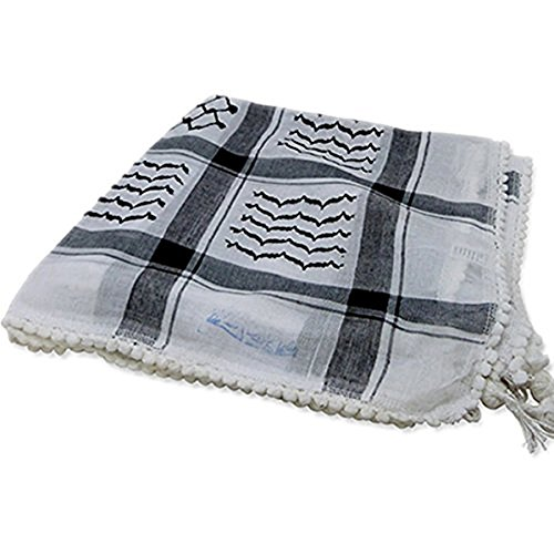 - Original Arab Keffiyeh Military Shemagh 100% Cotton Neck Scarf Wrap Made In Palestine For Men And Women