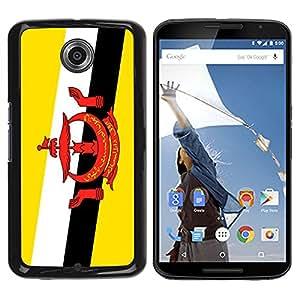 - Flag - - Monedero pared Design Premium cuero del tirš®n magnšŠtico delgado del caso de la cubierta pata de ca FOR Google Nexus 6 & Motorola Nexus 6 Funny House