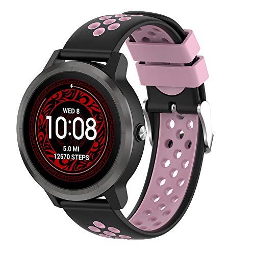 Urtone Armband für Garmin Vivoactive 3 / Vivomove HR/Vivoactive 3 Music/Forerunner 245/645 Music Smartwatch Silikon…