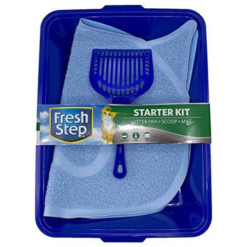 (Fresh Step Cat Litter Box Starter Kit | Cat Litter Essentials Kit Includes Scoop, Kitty Litter Mat, and Litter Pan)