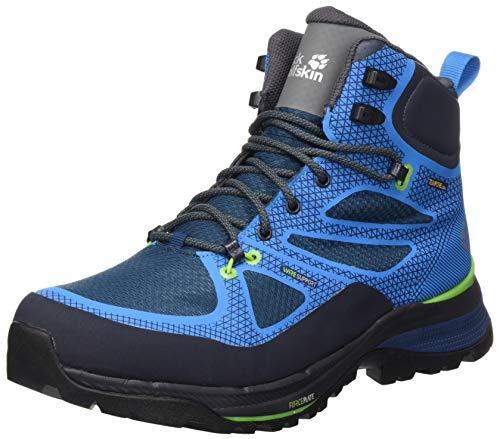 Zapatos de montaña Jack Wolfskin para hombre, azul verde, 11