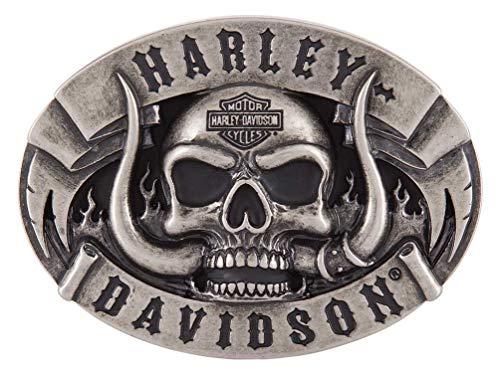 Harley-Davidson Men's The Beast Belt Buckle, Antique Nickle Finish - Davidson Buckles Harley
