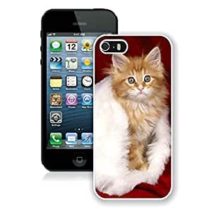 Hot Sell Design Iphone 5S Protective Cover Case Christmas Cat iPhone 5 5S TPU Case 18 White by icecream design
