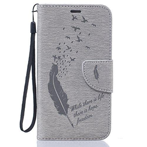 Ultra Slim Case para Galaxy S5/S5 NEO Funda Libro Suave PU Leather Cuero- Sunroyal ® Bookstyle Cobertura Wallet Case Con Flip Cover Cierre Magnético,Función de Soporte Billetera con Tapa para Tarjetas D-03