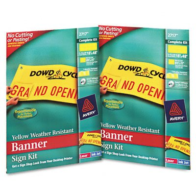 Banner Sign Kit, Sheets/Backing/Software Included,18