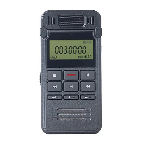 Digital Voice Recorder, ieGeek Portable Sound Audio Recorder, 8GB Rechargeable Recording Dictaphone with One-button Recording for Class, Lectures, Conferences, Meetings or Interviews
