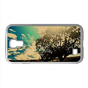 Lonely Tree In The Field Watercolor style Cover Samsung Galaxy S4 I9500 Case (Summer Watercolor style Cover Samsung Galaxy S4 I9500 Case)