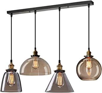 3 luces araña industrial, luces colgantes rústicas de la vendimia ...