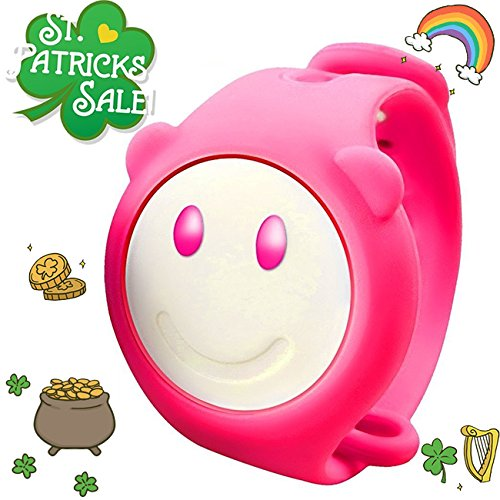 Kids Fitness Tracker Activity Health Monitor Wristband with Pedometer Sport Battle Game Educational Toys Electronic Pet for Girls Boys Wearable Bracelet St.Patrick's Day Gifts (Pink)
