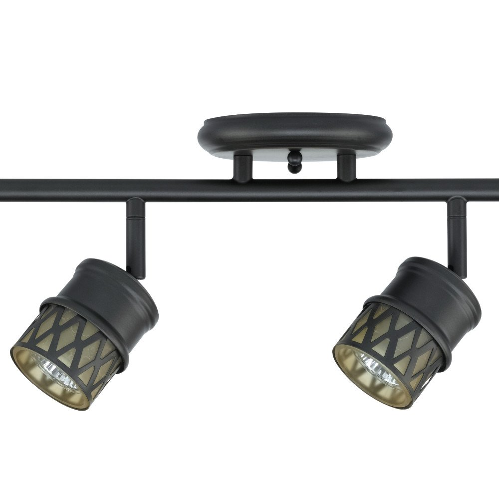 Globe Electric Norris 4-Light Adjustable Track Lighting Kit, Oil Rubbed Bronze Finish, Champagne Glass Track Heads, Bulbs Included, 59063 by Globe Electric (Image #3)