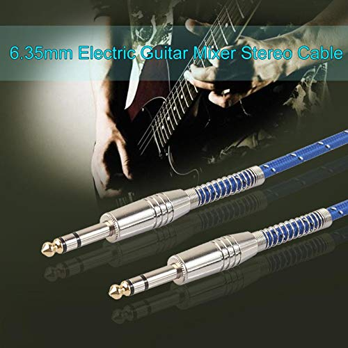 Bingo Point 6.35mm to 6.35mm Microphone Cable Male to Male Audio Electric Guitar Mixer Dual Channel Wire 5m/10m