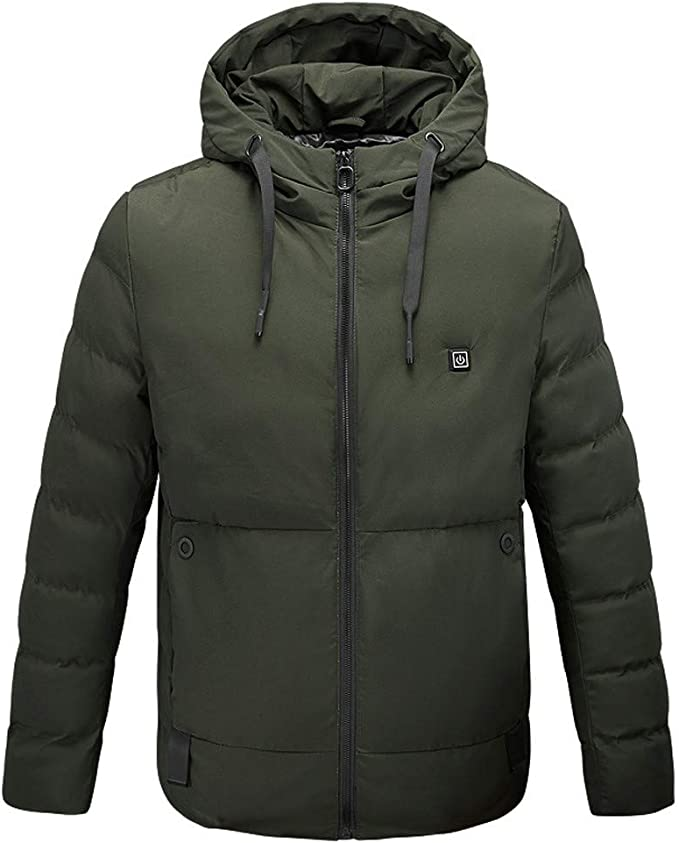 USB Intelligente Winter Weste mit Kapuze Heizung Jacke Atmungsaktiv Mantel
