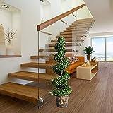 Goplus 4 Ft Artificial Boxwood Spiral Tree, Fake