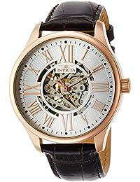 Men's 22569 Vintage Analog Display Automatic Self Wind Brown Watch