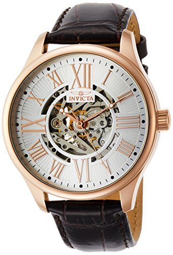 Invicta Men's 22569 Vintage Analog Display Automatic Self Wind Brown Watch (Watch Invicta Gold Leather Rose)