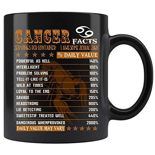- Cancer Facts Awesome Mug For Cancer Zodiac Coffee Mug 11oz Gift Tea Cups 11oz